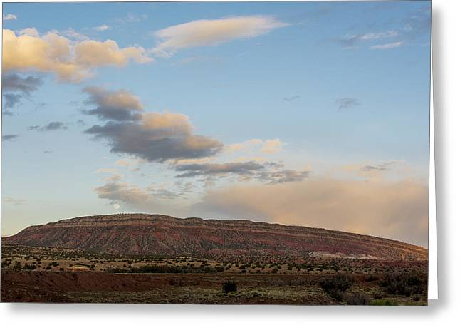 Jemez Mountains Greeting Cards - Full Moon Over Jemez Mountains - New Mexico Greeting Card by Brian Harig