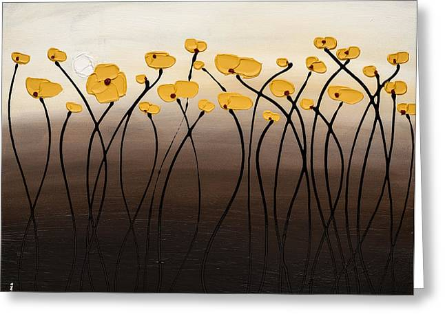 Poppies Greeting Cards - Full Moon Passion Greeting Card by Carmen Guedez