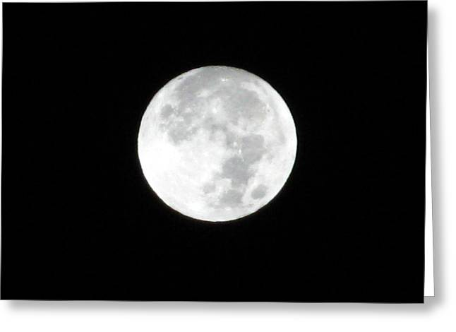 Man In The Moon Greeting Cards - Full Moon Greeting Card by Rebecca Hassinger