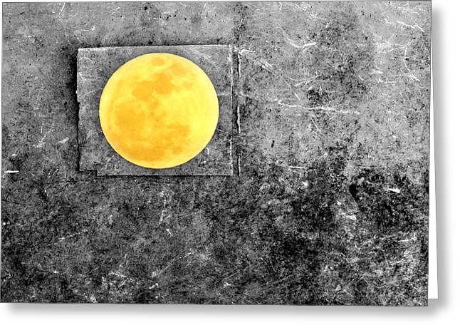 March Moon Greeting Cards - Full Moon Greeting Card by Rebecca Sherman