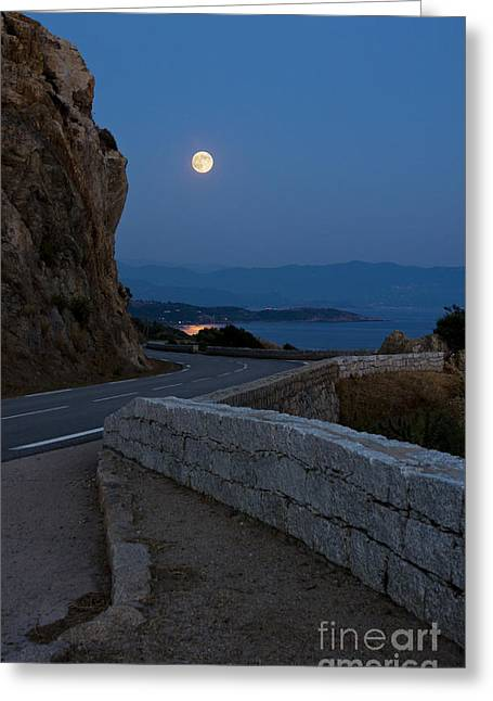 Sea Moon Full Moon Greeting Cards - Full Moon Greeting Card by Sophie De Roumanie