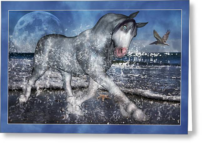 Sea Moon Full Moon Digital Greeting Cards - Full Moon Splendor Greeting Card by Betsy C  Knapp