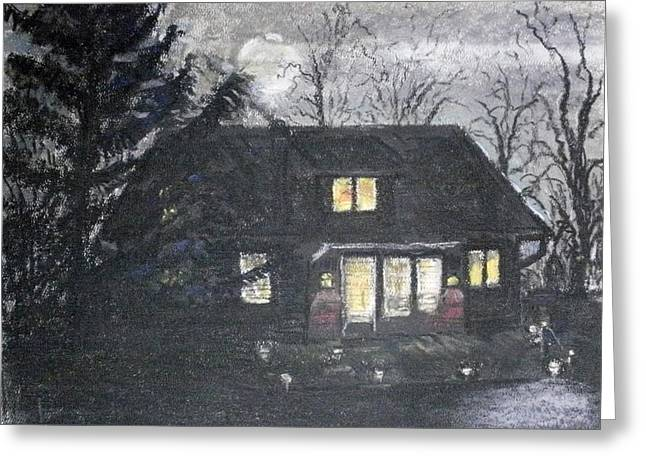 Night Time Pastels Greeting Cards - Full Moon Greeting Card by Tim  Swagerle
