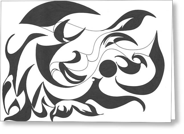 Flowing Drawings Greeting Cards - Full of Flow Greeting Card by Delfina Alden