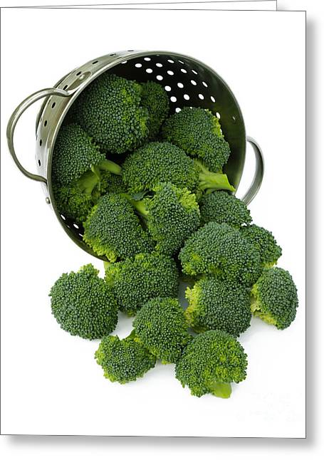 Broccoli Greeting Cards - Full of goodness Greeting Card by Rosemary Calvert