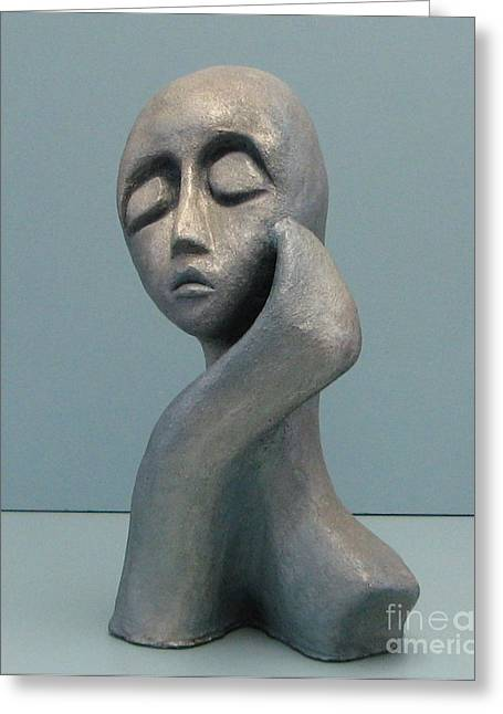 Proud Sculptures Greeting Cards - Full of herself Greeting Card by Nili Tochner
