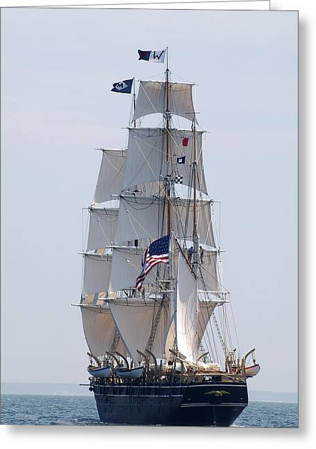 Cape Cod Mass Greeting Cards - Full Sail  Greeting Card by Robert DeFosses