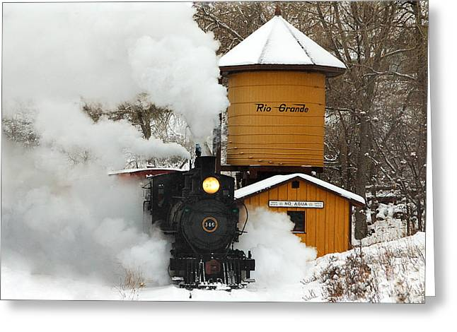 Colorado Railroad Museum Greeting Cards - Full Steam Ahead Greeting Card by Ken Smith