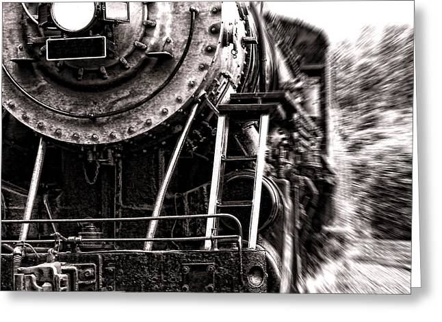 Steam Locomotive Greeting Cards - Full Steam Greeting Card by Olivier Le Queinec