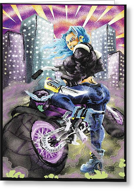 Full Throttle  Greeting Card by Ronnell Williams