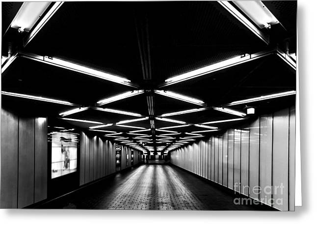 Transfer Greeting Cards - Fulton Street Transfer Tunnel Greeting Card by James Aiken