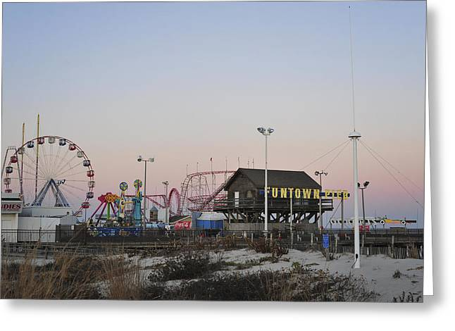 Anniversary Gift Greeting Cards - Fun at the Shore Seaside Park New Jersey Greeting Card by Terry DeLuco