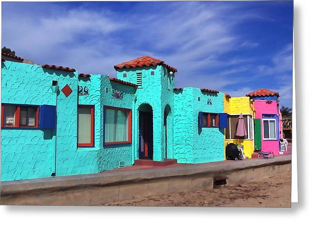 Capitola Greeting Cards - Fun Color in Capitola Greeting Card by Art Block Collections