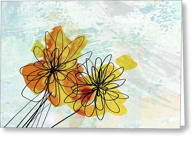 Fun Flowers  Greeting Card by Ann Powell