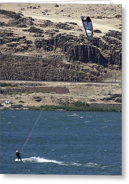 Kiteboarding Greeting Cards - Fun Fun Fun Greeting Card by Maureen Lovell