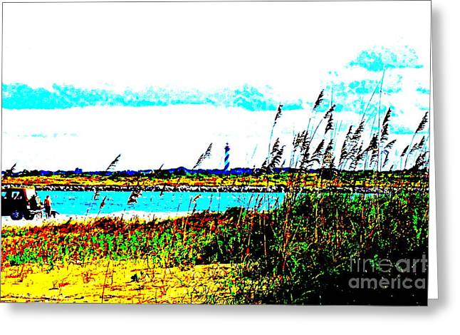 Sand Dunes Pastels Greeting Cards - Fun In Sun Greeting Card by Douglas McKissick