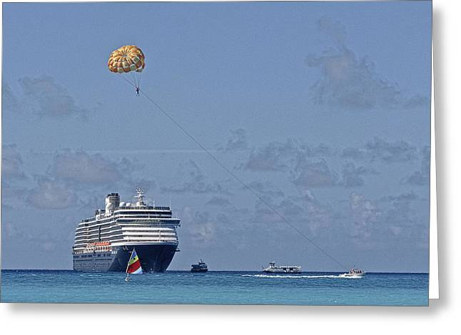 Half Moon Cay Greeting Cards - Fun In The Sun - Ship at Anchor Greeting Card by Michael Flood