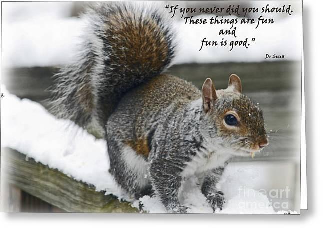 Seu Greeting Cards - Fun is Good Greeting Card by Sandra Clark
