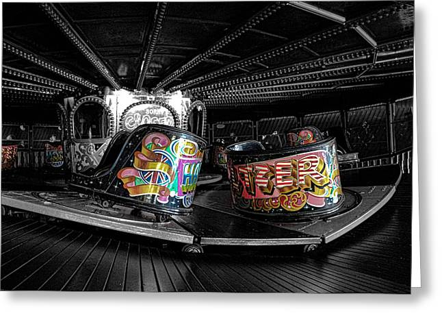Fairground Greeting Cards - Fun of the Fair Greeting Card by Martin Newman