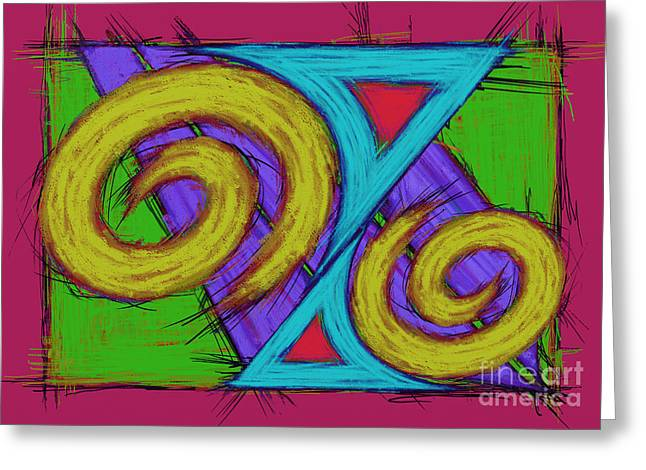Loose Style Digital Greeting Cards - Fun shaper Greeting Card by Keith Mills