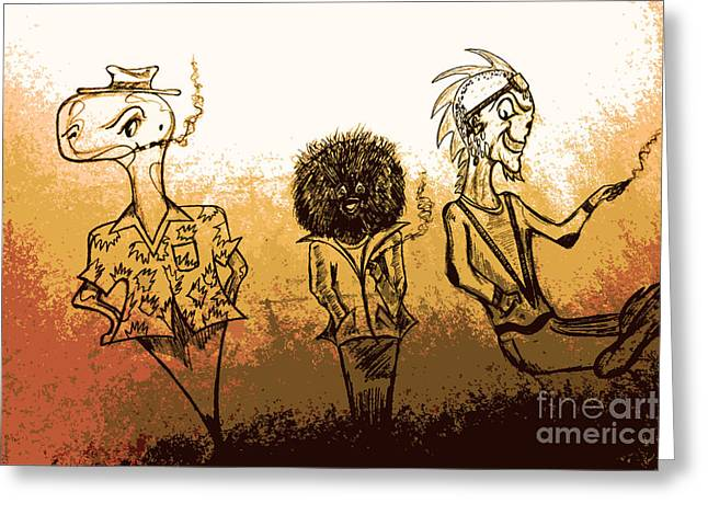 Comic Book Character Paintings Greeting Cards - Fun Sketches  Greeting Card by Jazzboy