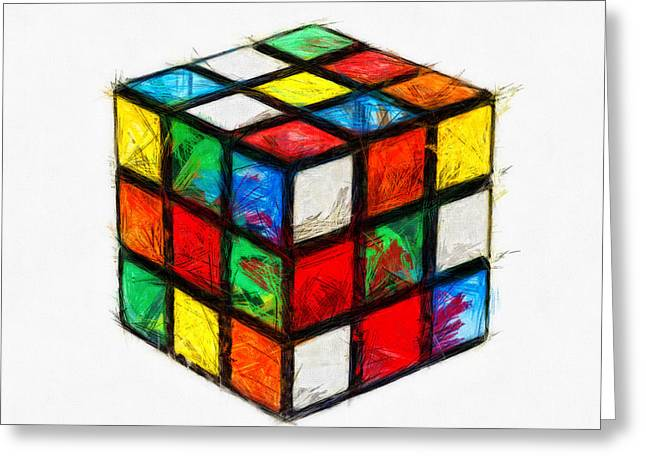Rubiks Cube Greeting Cards - Fun Times Greeting Card by Nishanth Gopinathan