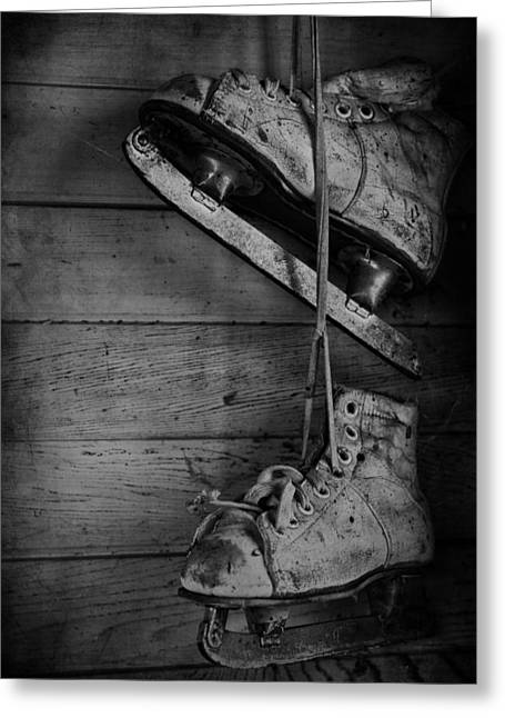 Old Skates Photographs Greeting Cards - Fun With Father  Greeting Card by Jerry Cordeiro