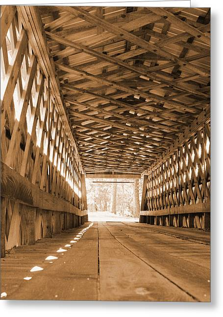 Covered Bridge Greeting Cards - Functional Art Greeting Card by Earnie Whittenberg