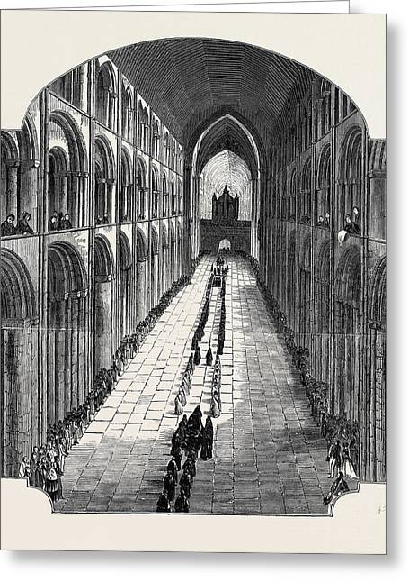 Funeral Of The Bishop Of Ely Greeting Card by English School