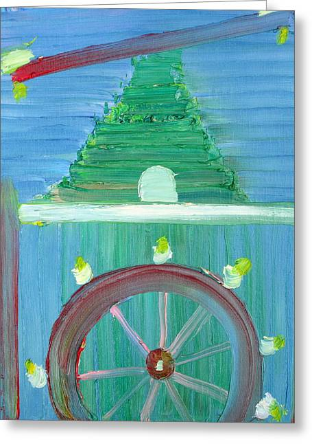Helter-skelter Greeting Cards - Funfair Greeting Card by Fabrizio Cassetta