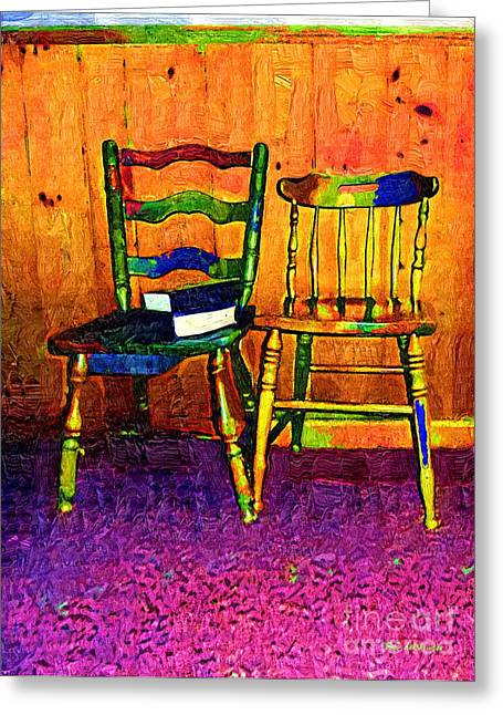 Knotty Greeting Cards - Funhouse Colonial Greeting Card by RC DeWinter