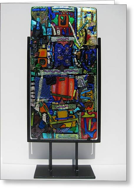 Bass Glass Art Greeting Cards - Funhouse Greeting Card by Mark Lubich