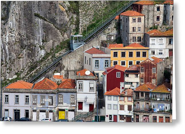 Funicular Greeting Cards - Funicular dos Guindais in Porto Greeting Card by Artur Bogacki