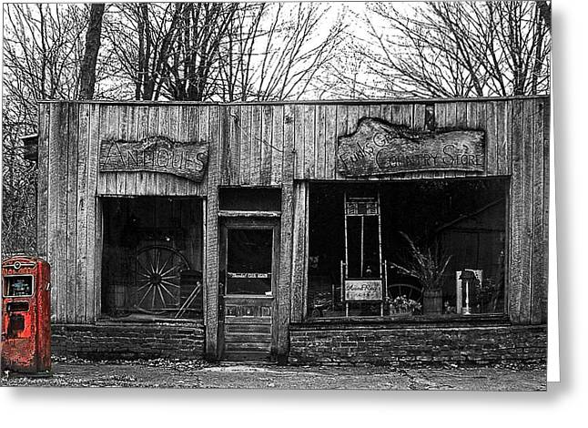 Historic Country Store Greeting Cards - Funks Grove Country Store Greeting Card by Roger Passman