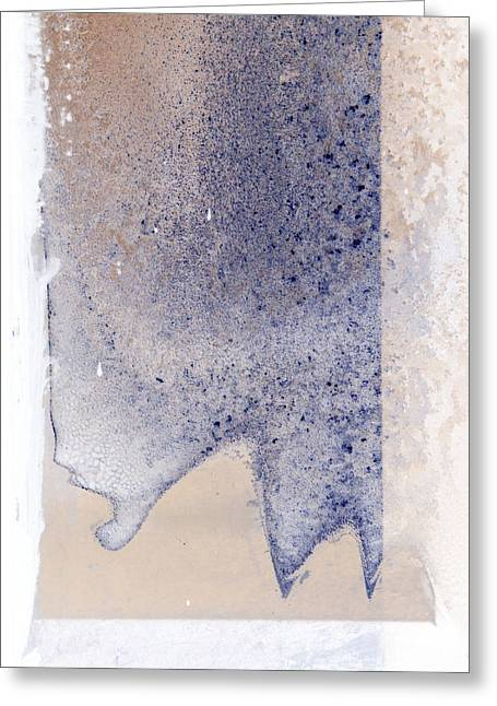 Duo Tone Digital Art Greeting Cards - Funky Frost Greeting Card by Lynn Wakefield