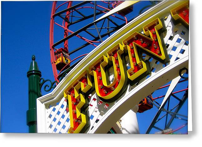 Disney California Adventure Park Greeting Cards - Funland Greeting Card by Jon Berry