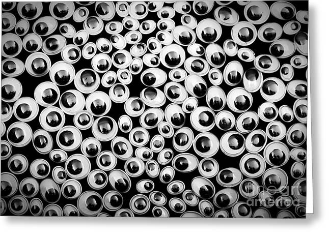 Pretending Greeting Cards - Funny eyes background Greeting Card by Simon Bratt Photography LRPS