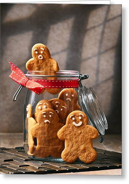 Cookie Greeting Cards - Funny gingerbread Men Greeting Card by Amanda And Christopher Elwell