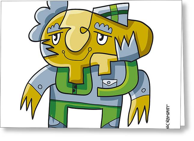 Doodle Greeting Cards - Funny Professor Doodle Character Greeting Card by Frank Ramspott