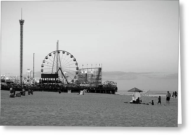 Amusement Ride Greeting Cards - Funtown Pier - Jersey Shore Greeting Card by Angie Tirado