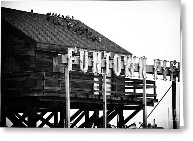 Seaside Heights Greeting Cards - Funtown Pier Greeting Card by John Rizzuto