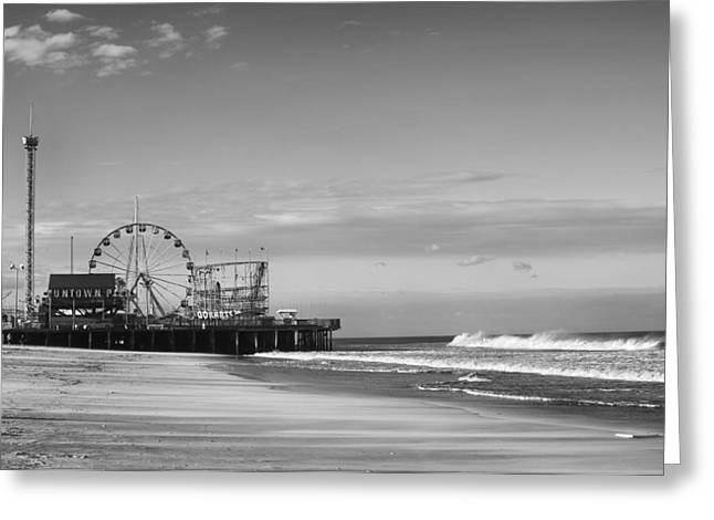 Bathroom Prints Greeting Cards - Funtown Pier Seaside Heights New Jersey  Greeting Card by Terry DeLuco