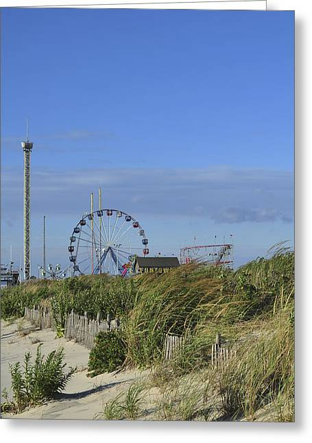 Seaside Heights Greeting Cards - Funtown Pier Seaside Park New Jersey Greeting Card by Terry DeLuco