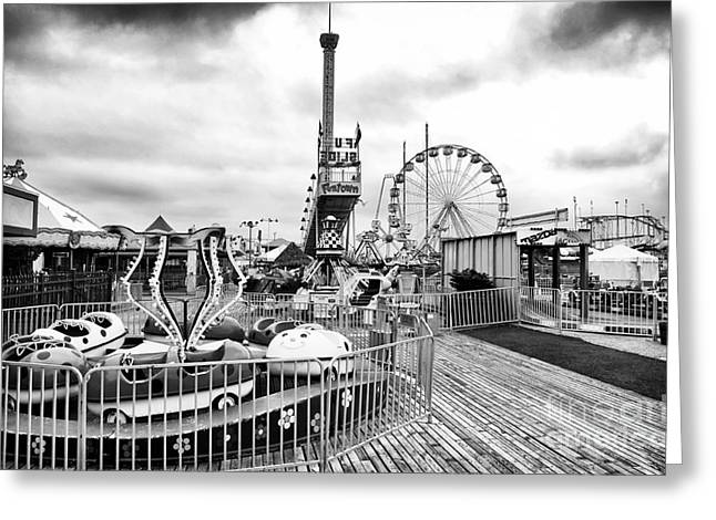 Seaside Heights Greeting Cards - Funtown Rides Greeting Card by John Rizzuto