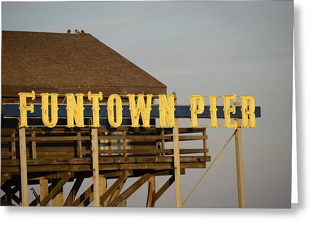 Seaside Heights Greeting Cards - Funtown Greeting Card by Terry DeLuco