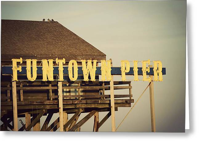 Recently Sold -  - Ocean Photography Greeting Cards - FUNTOWN Vintage Greeting Card by Terry DeLuco