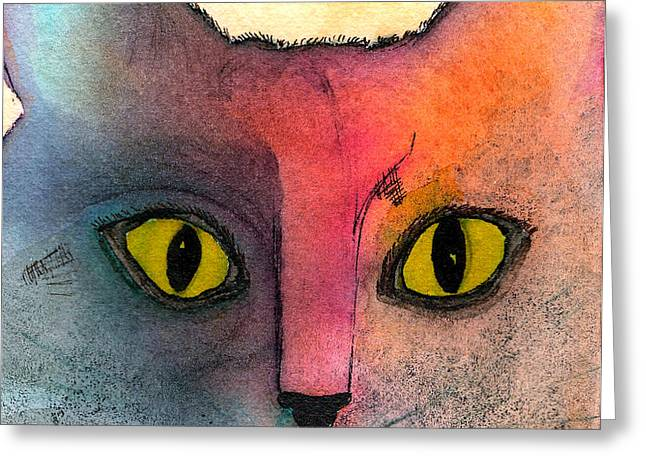 Fur Friends Series - Abby Greeting Card by Moon Stumpp