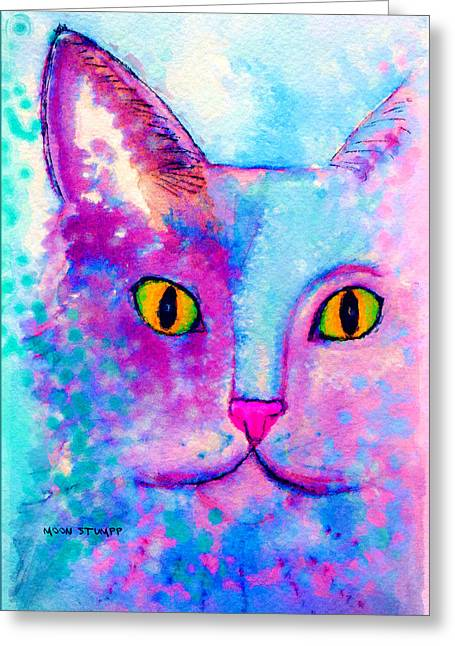Feline Fantasy Greeting Cards - Fur Friends Series - Fitch Greeting Card by Moon Stumpp
