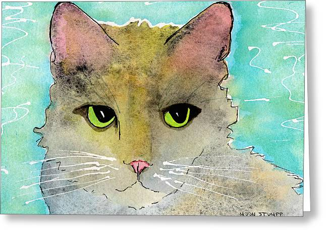 Watercolor And Ink Greeting Cards - Fur Friends Series - Lir Greeting Card by Moon Stumpp