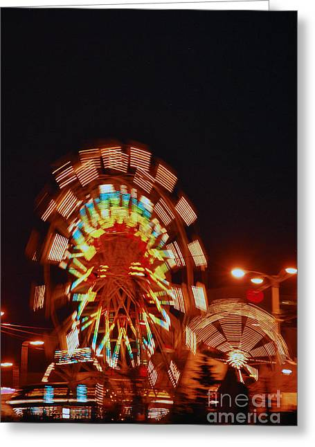 Fur Rendezvous Greeting Cards - Fur Rondy Ferris Wheel in Anchorage Greeting Card by Cynthia Lagoudakis